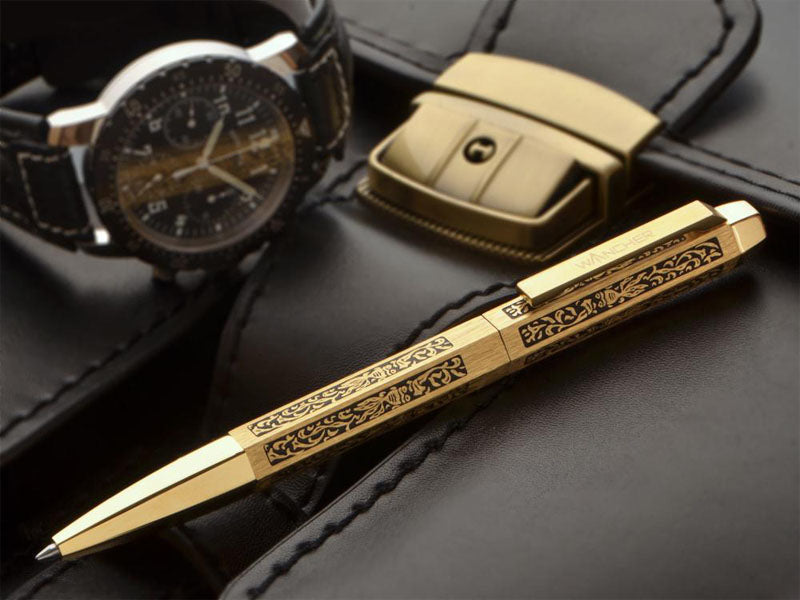 Hexabesco Gold Ballpoint Pen - Wancher International