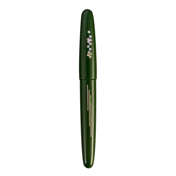 Zogan 桜の川 Sakura River - Urushi Green Fountain Pen - Wancher Pen