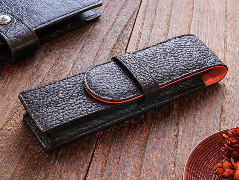 Penbrace 2 Pen Pouch - Black-Orange Pen Case - Wancher Pen