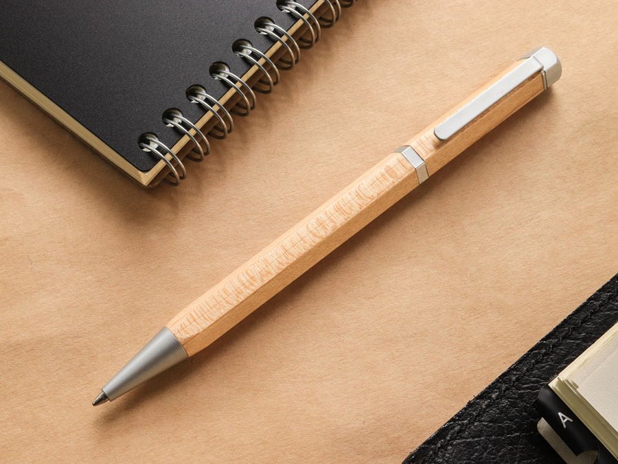 Meiboku Hexagonal Maple Ballpoint Pen - Wancher Pen