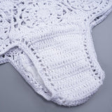 2 Piece Handmade Knitted Bikini Set - White Swimwear - musthavesexy