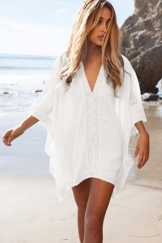 Beach Tunic Top Lace Cover Up - musthavesexy