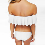 Fashion Off The Shoulder Bikini Set With Layered Details - musthavesexy