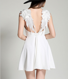 Black or White ANGEL WING DRESS - musthavesexy