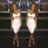 Spaghetti Strap Cut out Women Bandage Dress - musthavesexy