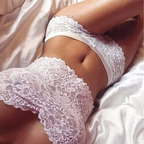 2 Piece Lovely White Lace Underwear Lingerie - musthavesexy