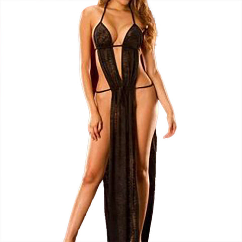 Transparent Nightgown Floor-length - musthavesexy