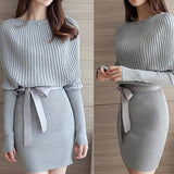 Slim Knitted Sleeve Women Bodycon Dress - musthavesexy
