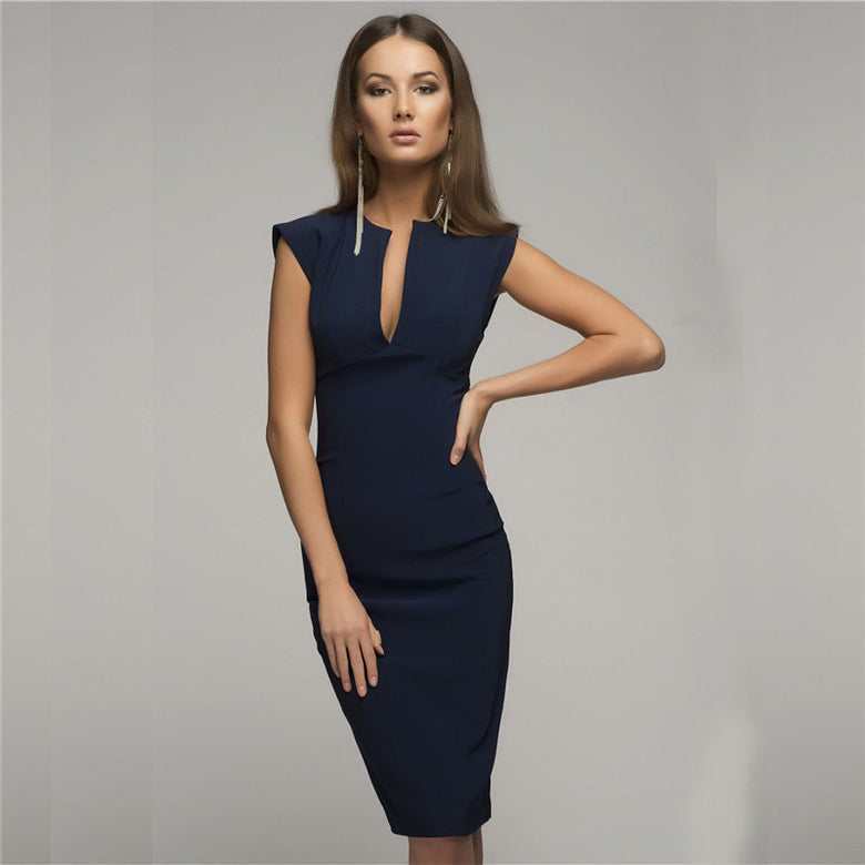 Elegant V Collar Dress - musthavesexy