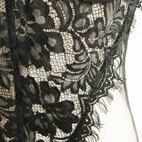 Sheer Lace Spaghetti Teddy Bodysuit - Black or White - musthavesexy