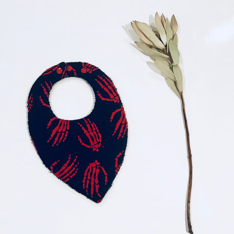 Teardrop Bandana Bone Collector Red
