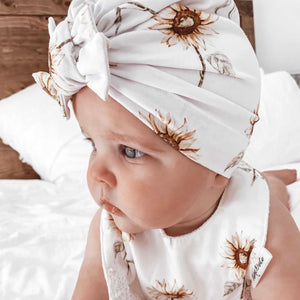 Sunflowers Square Bow Turban