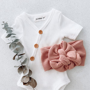 Ribbed Blush Bow