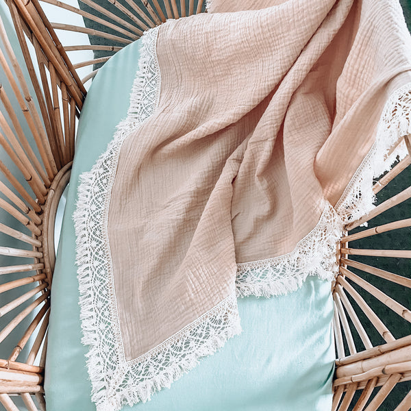 Latte Double Gauze Boho Wrap