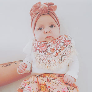 Velvet Blush Square Bow Turban