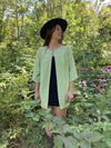 9 Labyrinths Raw Silk Swing Coat | S
