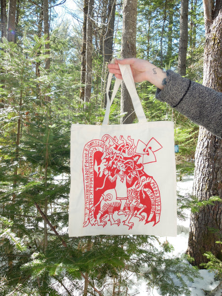 Wolf Rider Tote Bag
