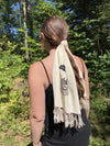 Black Henbane Cream Scarf