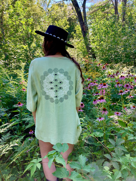 Raw Silk Mint Coat | S
