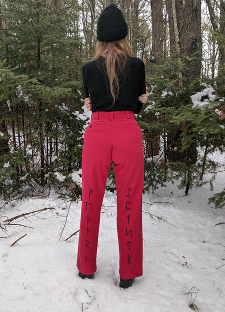 Runes on Red Work Pants