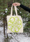 Serpent Knot Tote Bag