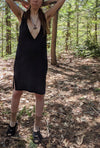 Prophetic Seeress Amulet Black Cotton Dress