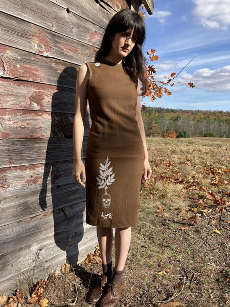 Nutmeg Mugwort Skull Mod Dress | XS