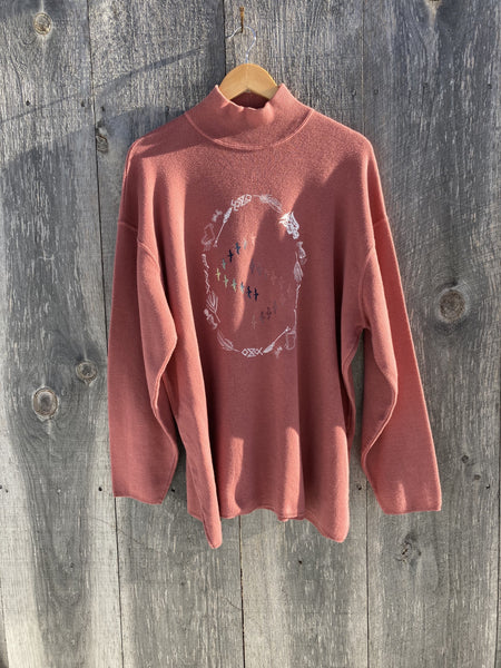 Rose Mockneck Sweater | XL