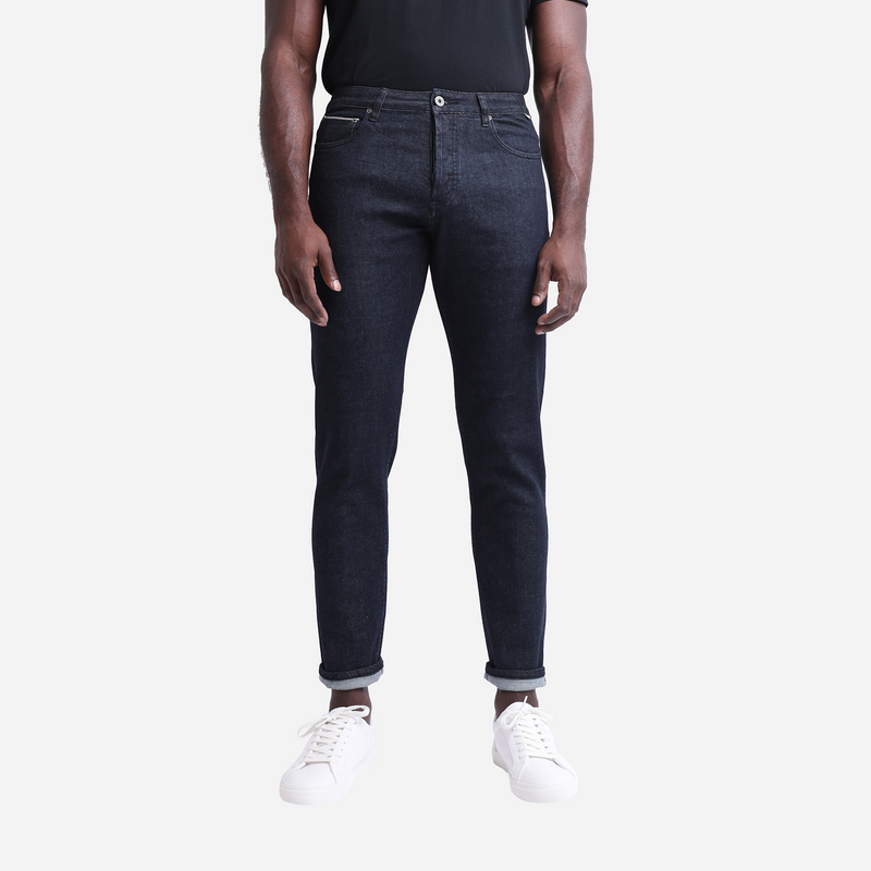 Tapered Dark Wash Selvedge Jeans