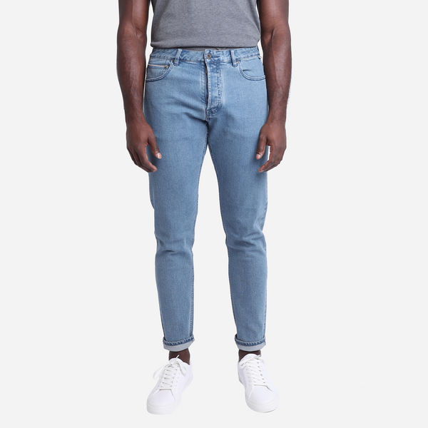 Tapered Light Wash Selvedge Jeans