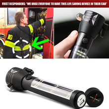 9-IN-1 Multi-Function Flashlight / Survival Tool / Power Bank / Solar & USB