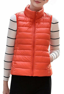 Women's Stylish Lightweight Packable Down Puffer Sleeveless Fall & Winter Vest