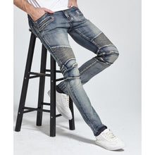 Men Good Quality Jeans Design Biker Jeans Skinny Strech Casual Jeans