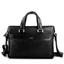Genuine leather briefcase, laptop leather bag, for 15 inch notebook computer
