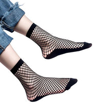 Women Sexy Hollow Out Breathable Mesh Fishnet Socks Stretchable Short Hosiery Ankle Socks