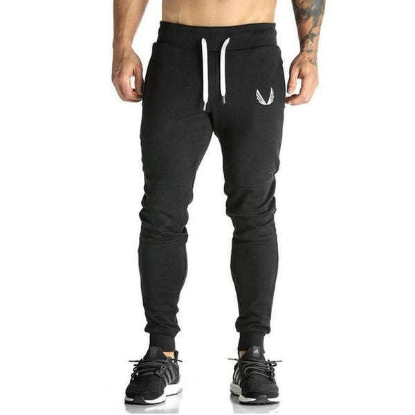 Cotton Men full sportswear Pants Casual Elastic cotton Mens Fitness Workout Pants