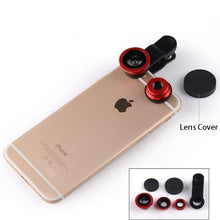 Fish eye universal 3 in 1 mobile phone chip lenses fisheye wide angle macro camera