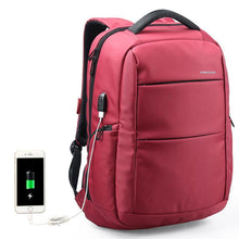 Nylon Backpack Charging USB Function Laptop Backpack