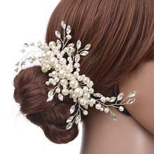 Wedding Hair Accessories Clips Romantic Crystal Pearl Flower HairPin Rhinestone Hair Jewelry