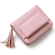 Hot Sale Fashion Short Tassel Women's Wallets Lady Mini Card Holder Wallet