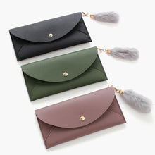Soild Color Women Long Wallets Large Capacity Business Card Passport Holder Purse