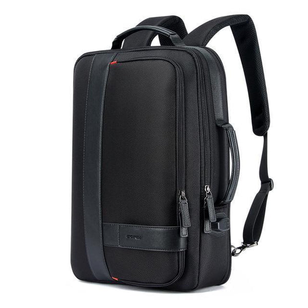 Business Men's Backpack Black USB Charging Anti Theft Laptop Backpack