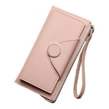 Women Wallet Leather Card Coin Holder Money Clip Long Phone Clutch Wristlet
