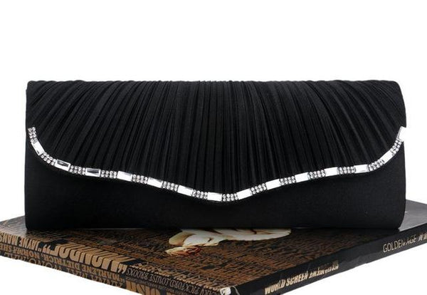 Evening bags for party wedding womens clutch bags and purses ruched women chain handbags
