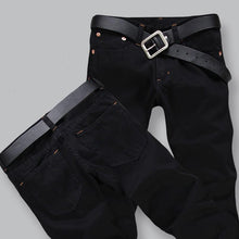 Hot Sale Four Season Men Jeans, Slim Straight Pants Black Color Brand Cotton Jeans