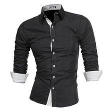Men High Quality Long Sleeve Shirts Casual Plus Size Slim Fit Dress Shirts