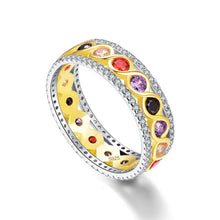 Gold Twisted Ring Nature Amethyst Garnet Citrine Gemstone 925 Sterling Silver Jewelry
