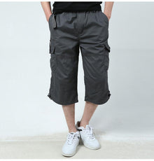Summer Men's Baggy Multi Pocket Military Zipper Cargo Shorts Tactical Plus Size Short
