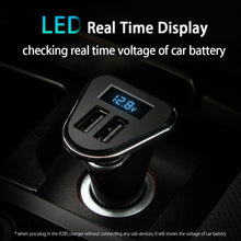 Mini USB Car Phone Charger Adapter 2 Port Fast Charging LED Voltage Display