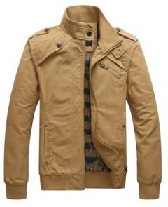 Casual men's jacket cotton washed coats Army Military Outdoors Stand collar Outerwear
